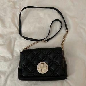 Kate Spade Black Quilted Crossbody Bag
